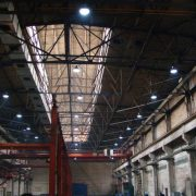 LED-high-bay-lights-in-factory