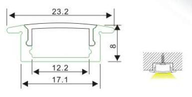 LED Strip Profile ALP001 R Size
