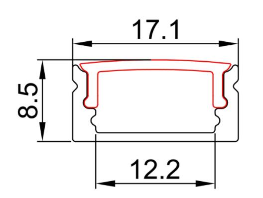LED Strip Profile ALP002 R Size