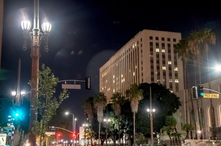 Pedestrian Light project in los angeles